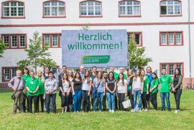 Auszubildende und Ausbilder/innen der Studierendenwerke Karlsruhe, Mannheim und Heidelberg beim Treffen in Heidelberg 2016