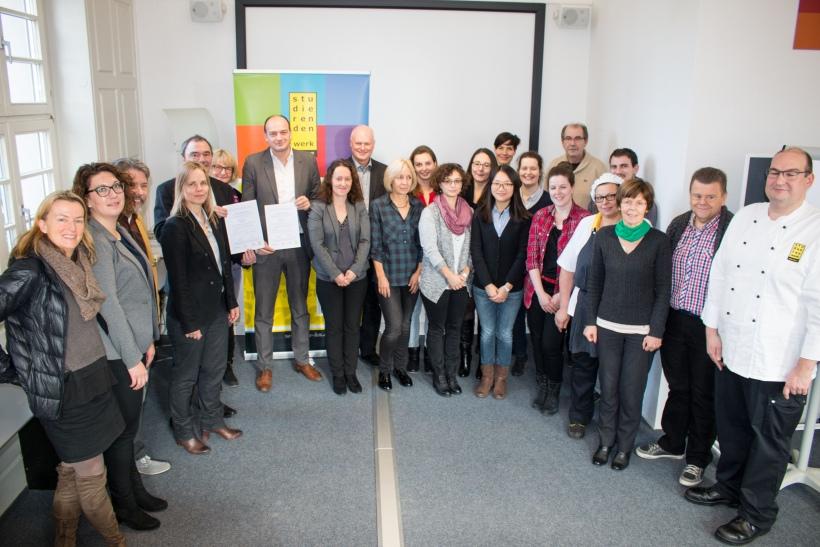 Beteiligte und Mitarbeiter/innen aus dem Studierendenwerk Karlsruhe